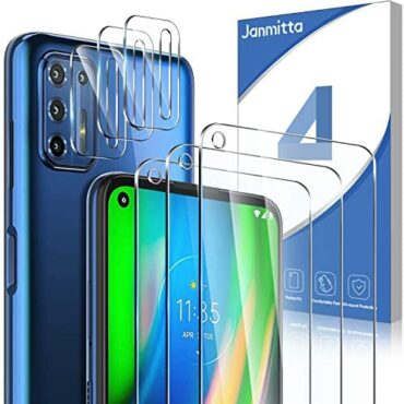 Janmitta for Motorola Moto G9 Plus Conceal Protector [3 Pack] + Camera Lens Protector [3 Pack] , 9H High-Definition Tempered Glass [Ultra Thin][Anti-Bubble] Retaining Movie