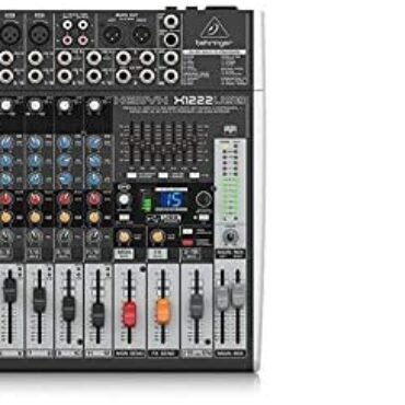 Behringer X1204USB Xenyx 12 Input 2/2 Bus Mixer & Stagg 6m High High-quality XLR to XLR Drag Microphone Cable