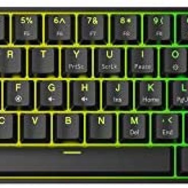 GK61 Mechanical Gaming Keyboard – 61 Keys Multi Color RGB Illuminated LED Backlit Wired Programmable for PC/Mac Gamer Tactile (Gateron Optical Brown)