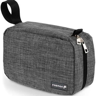 Placing Toiletry Win, Fosmon Portable Placing Toiletries Race Organizer Win with 3 Pouches, 3 Pockets & 1 Sturdy Hook, Race Accessory for Males and Girls – Grey
