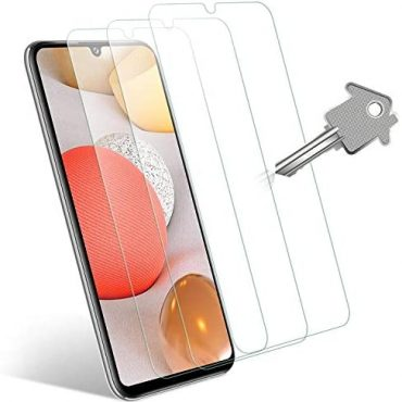 Wonantorna Tempered Glass Savor minded with Samsung Galaxy A42 5G Conceal Protector, [3 Pack] [No Bubbles] [Easy Installation] Glass Conceal Protector Savor minded with Samsung Galaxy A42 5G