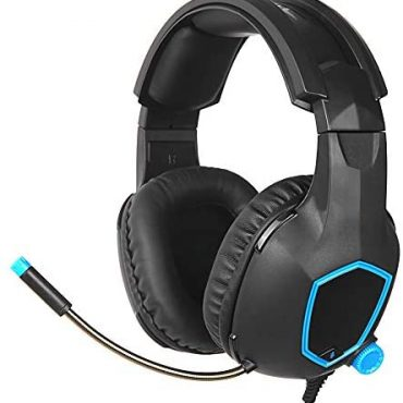 Docooler SADES Wired Gaming Headset 3.5 mm Over Ear Headphones Headset with Noise Cancelling Microphone and Volume Control for Laptop PS4 Contemporary Smartphone Xbox One
