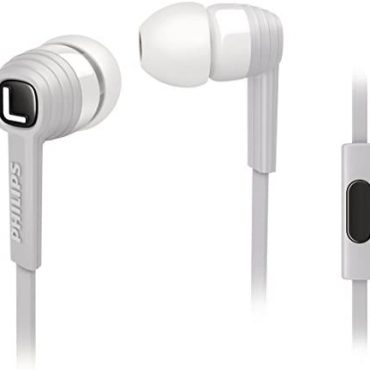 Philips SHE7055WT/00 CitiScape Indies Series In Ear Headphones with Mic – White