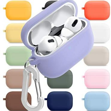 superdivision AirPods 1 & 2 & Expert Case Silicon Retaining Obvious Duvet with Anti-Misplaced Carabiner Keychain Equipment Situation Mud Guard Mud-Proof Film [Front LED Visible] (AirPods Expert, Periwinkle)