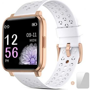 Clean Gaze Females,1.3″ Touch Hide Smartwatch Fitness Trackers With Coronary heart Charge Show screen, Water-proof IP68 Activity Tracker Pedometer Stopwatch,Females Watches for iOS Android