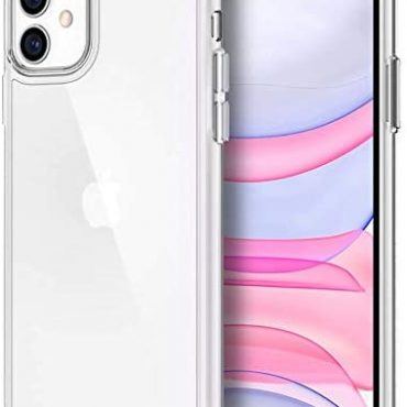 iSOUL Case for iPhone 11 (2019) 6.1-Disappear Shockproof Clear Bumper Duvet, [Hard Back Shell-Soft Gel] Anti-Scratch Determined Reduction (Clear)