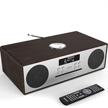Majority Oakington DAB/DAB+ Digital FM Radio Bluetooth Wi-fi CD Player Micro Compact Good day-Fi Stereo Speaker System – Some distance flung Relieve an eye on – USB Charging & MP3 Playback (Walnut)