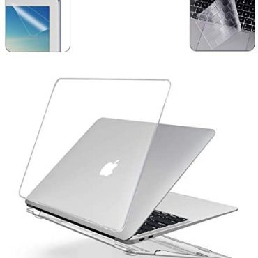 i-Purchase Onerous Shell Case Well matched for 2016-2020 Macbook Pro 13 lunge A2251 A2289 A2159 A1989 A1706 with Contact Bar + TPU Keyboard Quilt + Display masks Protector – Crystal Sure