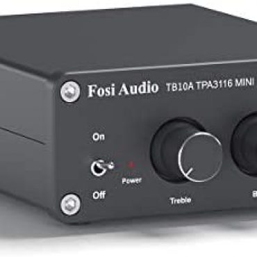 Fosi Audio TB10A – 2 Channel Stereo Audio Amplifier Receiver, Mini Hi-Fi Class D Built-in TPA3116 Amp for Speakers 100W x 2, with Bass and Treble Administration (with 24V UK Energy Provide)
