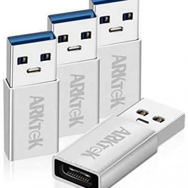 ARKTEK USB-C Adapter USB A 3.0 (Male) to USB Kind C (Female) Converter for PC Pc Galaxy S9 Show hide 9 Surface Pro 6 ThinkPad Spectre Inspiron Aspire and Extra (Pack of 4, Aluminum)