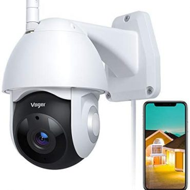 CCTV Digicam, Voger Security Digicam Outside 360° Look for Dwelling Security with 1080P Night Imaginative and prescient IP66 Waterproof Motion Tracking Like minded with Alexa and Google Dwelling