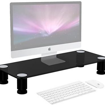 Duronic Show screen Stand Riser DM051 | Pc and Cloak masks Stand for Desktop | Sunless Tempered Glass | Succor for a TV or PC Computer Show screen | Ergonomic State of business Desk Shelf | 40kg Potential | 63cm x 25cm