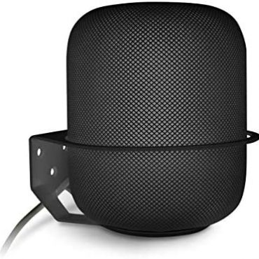 Apple HomePod Wall Mount, ALLICAVER Sturdy Steel Made Mount Stand Holder Like minded Apple HomePod. (White) … (Black)