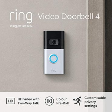 All-original Ring Video Doorbell 4 by Amazon – HD Video with Two-Design Talk about, Colour Pre-Roll video previews, battery-powered | With 30-day free trial of Ring Protect Belief