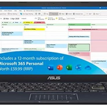 ASUS VivoBook with Microsoft Web web site of enterprise 365 L410MA 14 Slouch Elephantine HD Computer computer (Intel Celeron N4020, 4 GB RAM, 64 GB eMMC, Home windows 10 S) Entails 1 three hundred and sixty five days Microsoft Web web site of enterprise Subscription, Blue