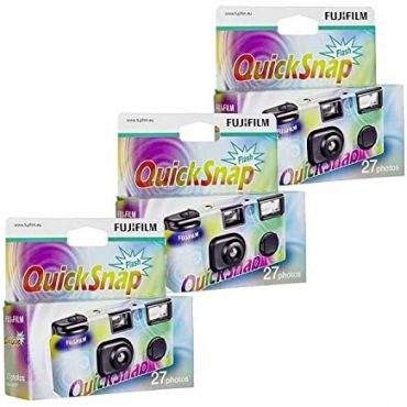 3 Disposable Cameras (with Flash)