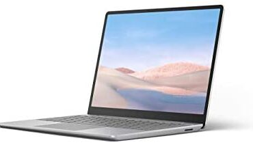 """Microsoft Floor Computer Run Extremely-Skinny 12.4"""" Touchscreen Computer (Platinum) – Intel tenth Gen Quad Core i5, 8GB RAM, 128GB SSD, Windows 10 House in S Mode, 2020 Version"""