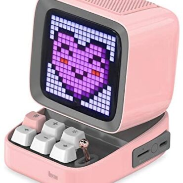 Divoom Ditoo Retro Pixel Art Game Bluetooth Speaker with 256 Led App Managed Front Show (Red)