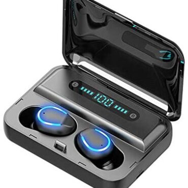 Wi-fi Earphones,Bluetooth 5.0 TWS Auto Pairing Headphones Noise Canceling Sport Earbuds w/Mic HIFI LED Discover IPX5 Waterproof for iPhone Android iOS (Black)