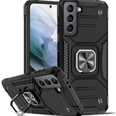 LeYi for Samsung Galaxy S21 5G Case,Screen with Ring Holder Shockproof Sophisticated Protective Silicone Bumper Armour No longer easy Cell phone Case for Samsung Galaxy S21 5G 6.2″ Shaded