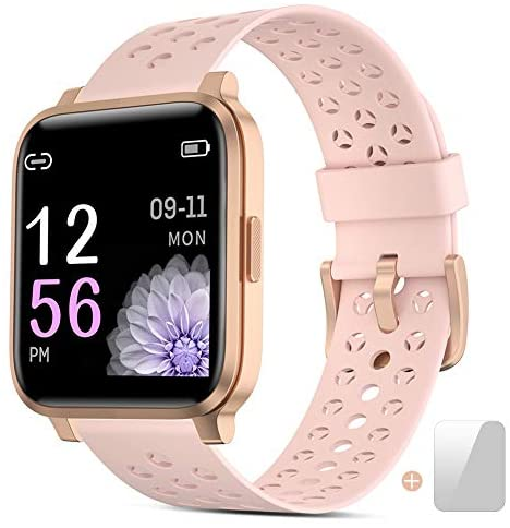 Smartwatch Ladies,Fitness Trackers Stare for Ladies and Men,Contact Masks conceal Smartwatch With Heart Rate Video show,Waterproof IP68 Order Tracker Pedometer Stopwatch,Watches for iOS Android