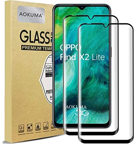 AOKUMA OPPO Win X2 Lite 5G Tempered Glass Display cloak cloak Protector, Premium 3D Crooked Edge Guard Film, Edge to Edge Stout Display cloak cloak Conceal, work with most case (Black Edge)