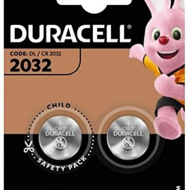 Duracell DL2032 Battery Lithium for Digicam Calculator or Pager 3V Ref 75072668 [Pack 2] (75072668)