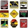 9 Objects Dinosaur Event Decorations Be Ware of Dinosaur Theme Event Wall Decor Dinosaur Event Indicators for Teens Birthday Event Dinosaur Theme Event Supplies