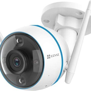 EZVIZ 1080P Safety Digicam Outdoor Coloration Night Vision, Person Detection, IP 67 Water resistant, Customizable Detection Zones, H.265 Video Compression Works with Alexa and Google Assistant (CTQ3N)