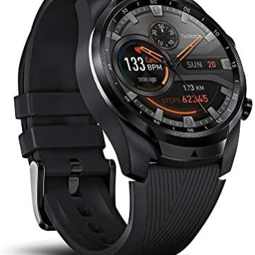 Ticwatch Pro 4G/LTE Smartwatch, 1G RAM Memory, Sleep Monitoring, Swim-Ready, Twin Repeat for Long Battery Lifestyles, Song, Coronary heart Rate, GPS, NFC, Cell Connectivity for Vodafone Customers