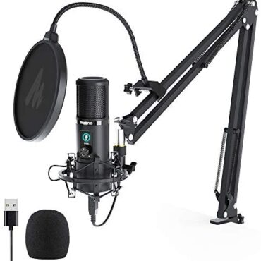 Condenser Microphone with One-Contact Nonetheless MAONO AU-PM421 Expert Cardioid Podcast USB Mic 192KHZ/24BIT and Mic Originate Knob for Broadcasting, Recording, Gaming,YouTube