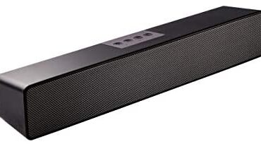 Computer Soundbar, 20W Computer Audio system for PC,Desktop Computer laptop, Tablet, Smartphone, TV Stereo Speaker Bluetooth 15 High-tail Wired & Wireless In-constructed Battery and Microphone