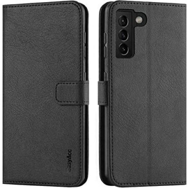 EasyAcc Pockets Case Successfully matched with Samsung Galaxy S21 5G, Leather-essentially based fully Case RFID Blocking Flip Disguise with Stand Perform and Card Holder Card Slots Shockproof Disguise, Gloomy