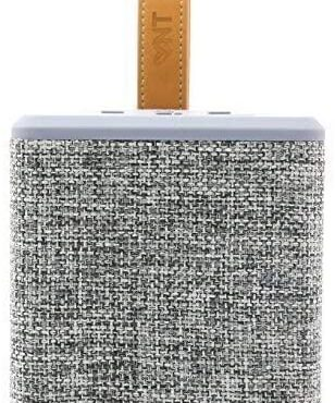 NT HS-786 Wi-fi Moveable Dash Bluetooth Material Speaker Radio, 5W Driver, 10 Meter Bluetooth Vary, AUX Line, TF Card Slot for iPhone & Android Graceful Phone (Grey)