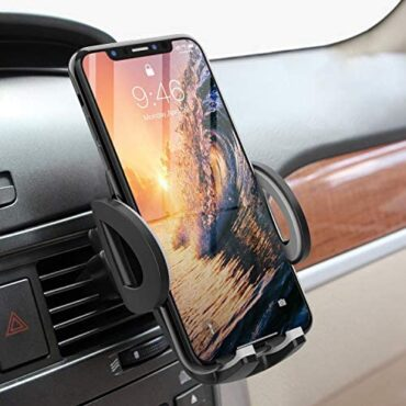 Avolare Automobile Cellular telephone Holder, Air Vent Cellular telephone Holder for Automobile 360°Rotation Universal In Automobile Mount Cherish minded with iPhone 12/11/X/XS/XR/8/7/6s/6 Plus Samsung Galaxy S20/S10/S9/S8 Huawei P30 LG HTC, etc -Grey