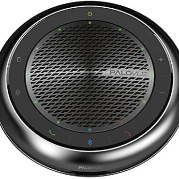 PALOVUE Bluetooth 5.0 Speakerphone, Conference Speaker with CVC 8.0 Echo & Noise Cancelling and 360° Strengthen Advise Pickup, 15Hours Calling Time for Home Build of work, Qualcomm CSR, iConf