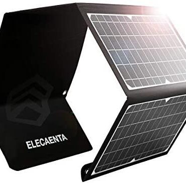 ELECAENTA 30W Portable Solar Panel Charger Kit Foldable Water resistant USB-QC3.0 Sort-C PD18W for Cell Phone Smartphone Tablet Powerbank Camera Exterior Camping Inch