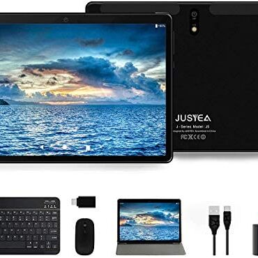 Tablet 10 dawdle Android 10.0 – JUSYEA J5 Capsules Extremely-portable – RAM 4GB | 64GB Expandable – 8000mAh Battery – WIFI —Mouse | Keyboard and More -Shadowy