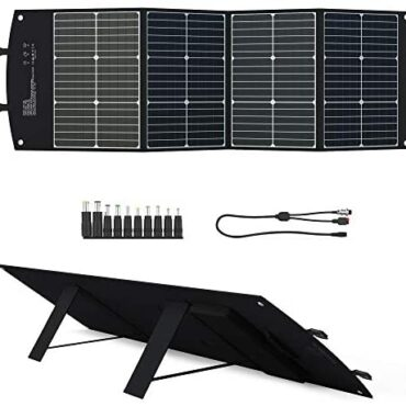 ELECAENTA 120W Foldable Photo voltaic Panel Charger Bundle Form-C PD45W USB QC3.0 DC for Transportable Generator Energy Plan Smartphones Computer non-public computer Out of doors Energy Backup,with DC-Anderson Cable,10-in-1 DC Connector