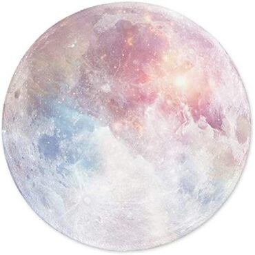 ITNRSIIET Mouse Pad with Stitched Edge, Mouse Mat Premium-Textured, Waterproof, Non-Lope Rubber Tainted Spherical Mousepad for Pc Pc PC Suppose of job, Adorable Comprise Desk Instruments, Crimson Moon
