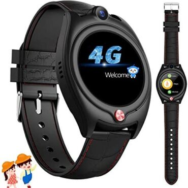 """4G Generous Search for Young of us, GPS Tracker Young of us Generous Watches Cellular telephone for Boys Ladies with WIFI SOS Video Name Text 1.28"""" Touchscreen Waterproof Geofence Pedometer Birthday Offers 6-15y (Murky)"""