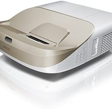 BenQ W1600UST 1080p DLP Home Cinema Projector, Ultra Short Throw, 3300 Lumens, 13000:1 Distinction Ratio with 2 x 10 W Speakers, HDMI, White