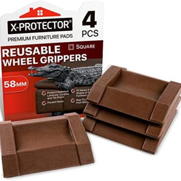 X-PROTECTOR Top payment Furniture Cups 4 PCS. Rubber Caster Cups Furniture Coasters – Flooring Protectors for All Floors & Wheels. Defend Your Floors & End Furniture with Very kindly Bed Stoppers!
