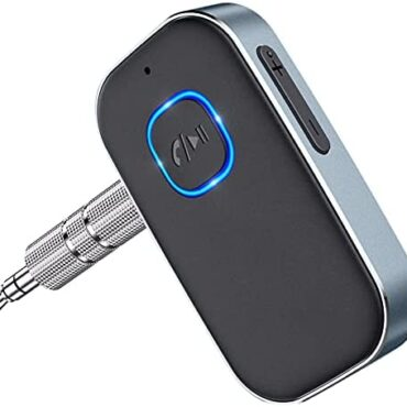 Cocoda Bluetooth Receiver 5.0 for Automobile, Noise Cancelling Bluetooth AUX Adapter, Bluetooth Tune Receiver for Dwelling Stereo, Wired Headphones, Palms-free Calls (16H Battery Lifestyles/Twin Link)