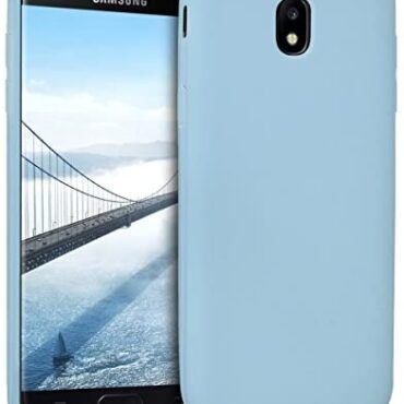 kwmobile TPU Case Acceptable with Samsung Galaxy J5 (2017) DUOS – Case Relaxed Skinny Slim Tender Versatile Phone Veil – Light Blue Matte