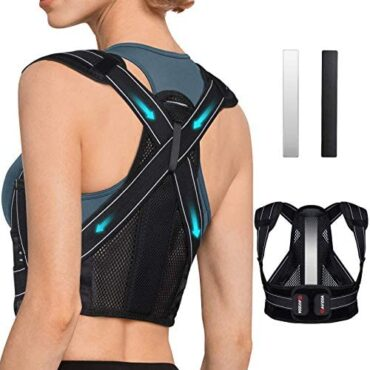 AVIDDA Posture Corrector for Males Ladies folk, Serve Brace with Replaceable Red meat up Plate, Breathable and Adjustable Serve Red meat up Offering Trouble Relief from Serve, Neck & Shoulder