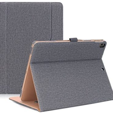 ProCase iPad Air 3 10.5″ 2019 Folio Case/iPad Professional 10.5″ 2017 Case with Pencil Holder – Top price PU Leather Stand Folding Case Protective Duvet for iPad 10.5 hotfoot -Grey