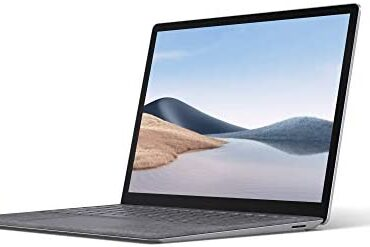 Microsoft Surface Computer laptop 4 Tidy-Thin 13.5 Chase Touchscreen Computer laptop (Platinum) – Intel 11th Gen Quad Core i5, 8 GB RAM, 512 GB SSD, Windows 10 Home, 2021 Mannequin