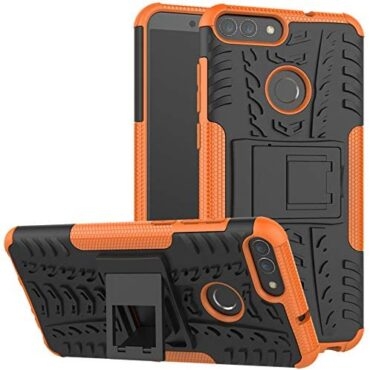 Yiakeng Huawei P Dapper Case,Huawei Expertise 7S Case, shockproof Slim Descend Elephantine Physique Protection With kickstand for Huawei P Dapper (Orange)
