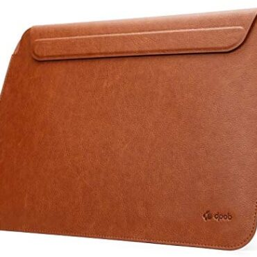 DPOB MacBook Sleeve 13″ Extremely Thin Water resistant and Shockproof Magnetic Case for MacBook Reputable 13″ (2016-2020) / MacBook Air 13″ (2018-2020) (Brown)